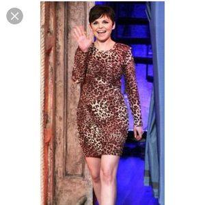 Torn by Ronny Kobo Leopard Print Body Con Dress